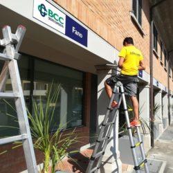 digital montesi allestimento insegne BCC Fano